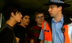 Zeke Kinski, Declan Napier, Ringo Brown, Const. Tony Blunt in Neighbours Episode 5716