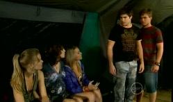 Elle Robinson, Bridget Parker, Donna Freedman, Declan Napier, Ringo Brown in Neighbours Episode 5716