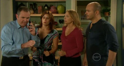 Karl Kennedy, Rebecca Napier, Miranda Parker, Steve Parker in Neighbours Episode 5717