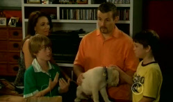 Libby Kennedy, Mickey Gannon, Toadie Rebecchi, Rocky, Ben Kirk in Neighbours Episode 5720