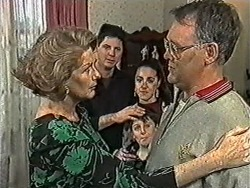 Madge Bishop, Joe Mangel, Kerry Bishop, Toby Mangel, Harold Bishop in Neighbours Episode 1052
