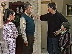 Kerry Bishop, Harold Bishop, Joe Mangel, Toby Mangel in Neighbours Episode 1052