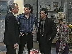 Jim Robinson, Des Clarke, Paul Robinson, Helen Daniels in Neighbours Episode 1053