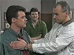 Paul Robinson, Des Clarke, Jim Robinson in Neighbours Episode 1053