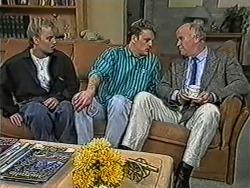 Bronwyn Davies, Henry Ramsay, Gordon Davies in Neighbours Episode 1053