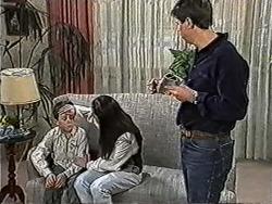 Toby Mangel, Kerry Bishop, Joe Mangel in Neighbours Episode 1054