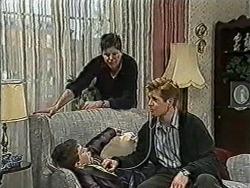 Toby Mangel, Joe Mangel, Clive Gibbons in Neighbours Episode 1054