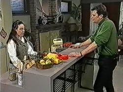 Kerry Bishop, Des Clarke in Neighbours Episode 1054