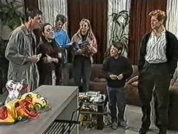 Joe Mangel, Kerry Bishop, Henry Ramsay, Bronwyn Davies, Toby Mangel, Clive Gibbons in Neighbours Episode 1055