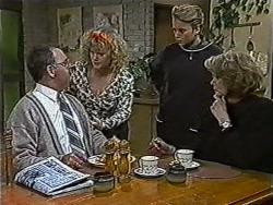 Harold Bishop, Sharon Davies, Bronwyn Davies, Madge Bishop in Neighbours Episode 1057