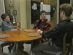 Toby Mangel, Joe Mangel, Clive Gibbons in Neighbours Episode 1057