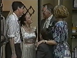Joe Mangel, Kerry Bishop, Harold Bishop, Madge Bishop in Neighbours Episode 1058
