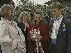 Madge Bishop, Sharon Davies, Bronwyn Davies, Henry Ramsay in Neighbours Episode 1058
