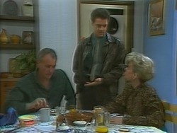 Jim Robinson, Paul Robinson, Helen Daniels in Neighbours Episode 1059