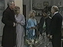 Jim Robinson, Beverly Marshall, Helen Daniels, Todd Landers, Ben Jarrett in Neighbours Episode 1061