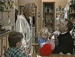 Toby Mangel, Madge Bishop, Sky Mangel, Harold Bishop in Neighbours Episode 1062