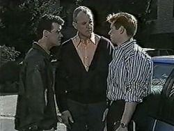 Paul Robinson, Jim Robinson, Clive Gibbons in Neighbours Episode 1063