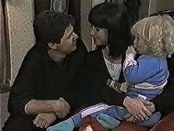 Joe Mangel, Kerry Bishop, Sky Bishop in Neighbours Episode 1063