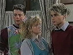 Matt Robinson, Sharon Davies, Nick Page in Neighbours Episode 1067