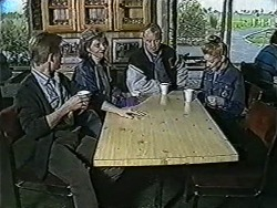 Clive Gibbons, Beverly Robinson, Jim Robinson, Melanie Pearson in Neighbours Episode 1067