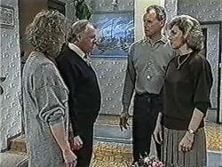 Rona Jarrett, Ben Jarrett, Jim Robinson, Beverly Robinson in Neighbours Episode 1069