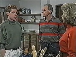 Clive Gibbons, Jim Robinson, Beverly Marshall in Neighbours Episode 1070