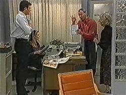 Des Clarke, Melanie Pearson, Jim Robinson, Helen Daniels in Neighbours Episode 1071