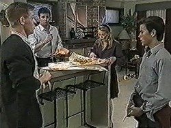 Clive Gibbons, Des Clarke, Melanie Pearson, Todd Landers in Neighbours Episode 1072