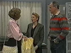Madge Bishop, Melanie Pearson, Jim Robinson in Neighbours Episode 1075