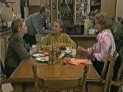 Melanie Pearson, Harold Bishop, Bronwyn Davies, Madge Bishop in Neighbours Episode 1075