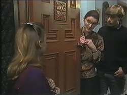 Gemma Ramsay, Dorothy Burke, Ryan McLachlan in Neighbours Episode 1244