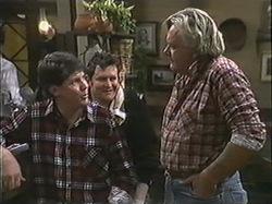 Joe Mangel, Des Clarke, Whacker in Neighbours Episode 1245