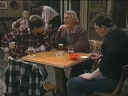 Joe Mangel, Clarrie McLachlan, Des Clarke in Neighbours Episode 1245