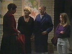 Dorothy Burke, Madge Bishop, Harold Bishop, Gemma Ramsay in Neighbours Episode 1245