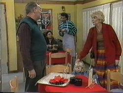 Harold Bishop, Madge Bishop, Eddie Buckingham in Neighbours Episode 1255