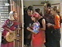 Helen Daniels, Michael Martin, Hannah Martin, Julie Martin, Philip Martin, Debbie Martin in Neighbours Episode 2120