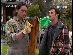 Darren Stark, Malcolm Kennedy in Neighbours Episode 2713