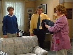 Tad Reeves, Toadie Rebecchi, Coral Reeves in Neighbours Episode 3224