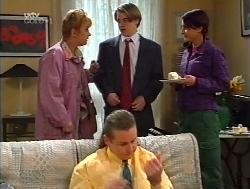 Coral Reeves, Toadie Rebecchi, Tad Reeves, Karen Oldman in Neighbours Episode 3224