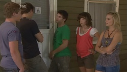 Ringo Brown, Kyle Canning, Declan Napier, Bridget Parker, Donna Freedman in Neighbours Episode 5687