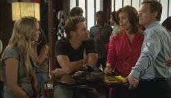 Elle Robinson, Lucas Fitzgerald, Rebecca Napier, Paul Robinson in Neighbours Episode 5688