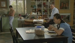 Zeke Kinski, Karl Kennedy, Sunny Lee in Neighbours Episode 5691