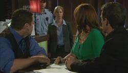 Toadie Rebecchi, Detective Sergeant Michaela Morris , Rebecca Napier, Paul Robinson in Neighbours Episode 5692