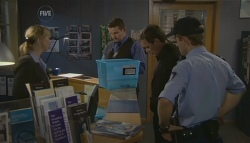 Detective Sergeant Michaela Morris , Toadie Rebecchi, Paul Robinson in Neighbours Episode 5693