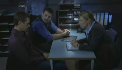 Paul Robinson, Toadie Rebecchi, Detective Sergeant Michaela Morris in Neighbours Episode 5693