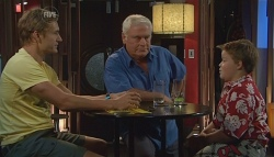 Dan Fitzgerald, Lou Carpenter, Callum Jones in Neighbours Episode 5695