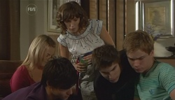 Donna Freedman, Zeke Kinski, Bridget Parker, Declan Napier, Ringo Brown in Neighbours Episode 5697