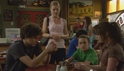 Harry Ramsay, Elle Robinson, Sophie Ramsay, Kate Ramsay in Neighbours Episode 5697