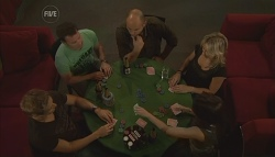 Dan Fitzgerald, Lucas Fitzgerald, Steve Parker, Steph Scully, Libby Kennedy in Neighbours Episode 5699