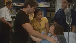 Declan Napier, Nurse Jodie Smith, Bridget Parker in Neighbours Episode 5718